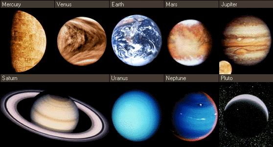 Greek names of the planets, how are planets named in Greek